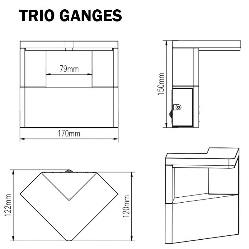 TRIO GANGES 221760142