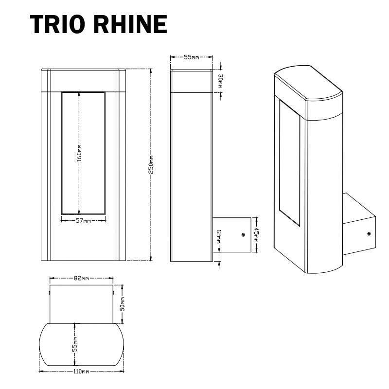 APPLIQUE DETECTEUR TRIO RHINE - ECLAIRAGE EXTERIEUR