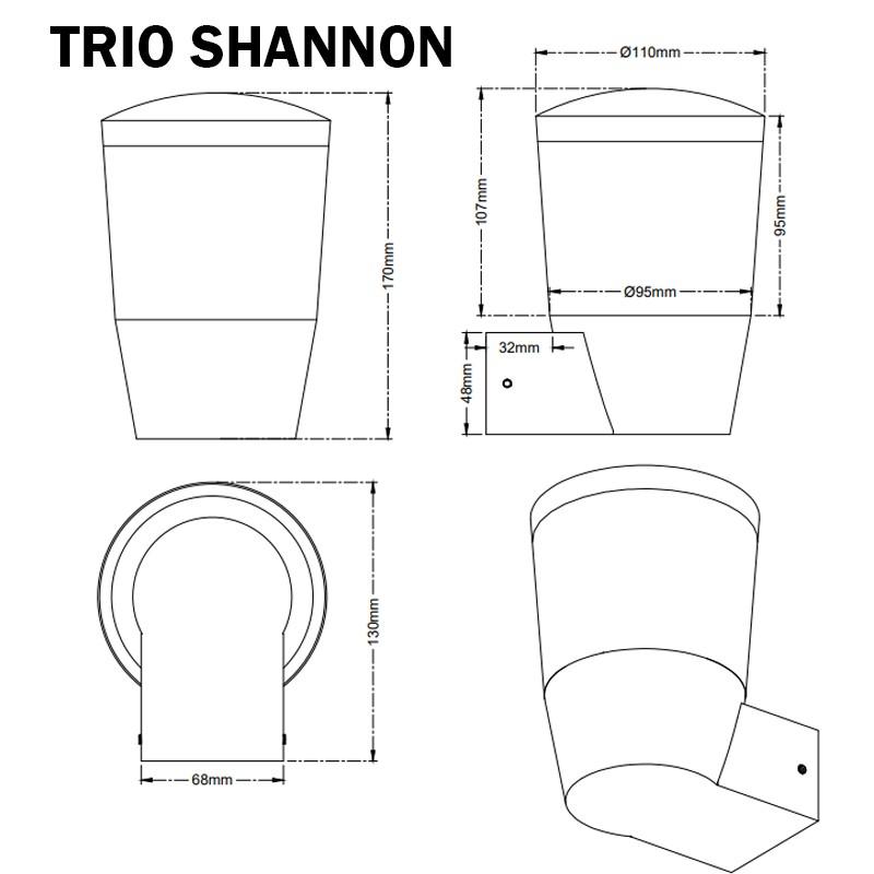 Applique extérieur TRIO SHANNON