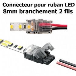 Connecteur pour ruban LED largeur 8mm