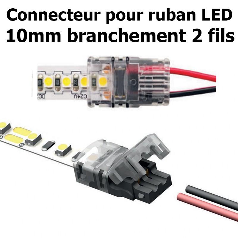 Connecteur pour ruban LED largeur 10mm