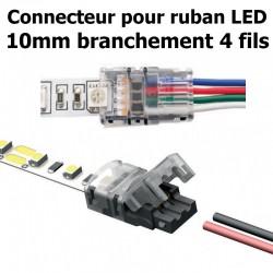 Connecteur pour ruban LED RGB largeur 10mm