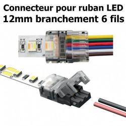 Connecteur pour ruban LED RGB-CW-WW largeur 12mm