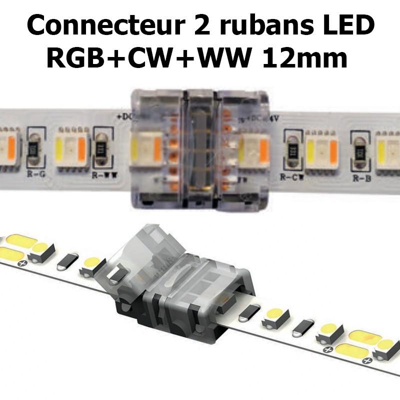 Connecteur pour associer 2 rubans LED RGB+CW+WW