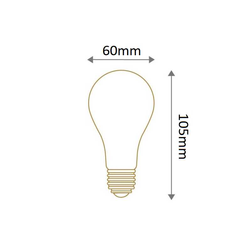 Lampe standard calotte argentée E27 SYLVANIA 0027157