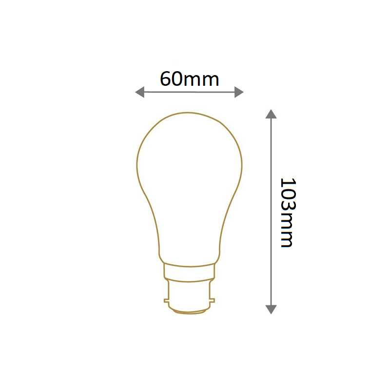 Lampe standard calotte argentée B22 SYLVANIA 0027159