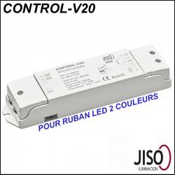 Contrôleur JISO CONTROL-V20 pour ruban LED bicolore