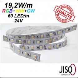 Ruban LED couleur RGB et blanc WW/CW