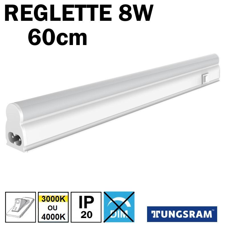 Réglette LED avec inter - TUNGSRAM 8W
