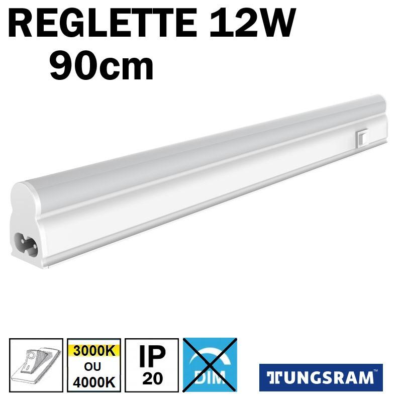 Réglette LED avec inter - TUNGSRAM12W