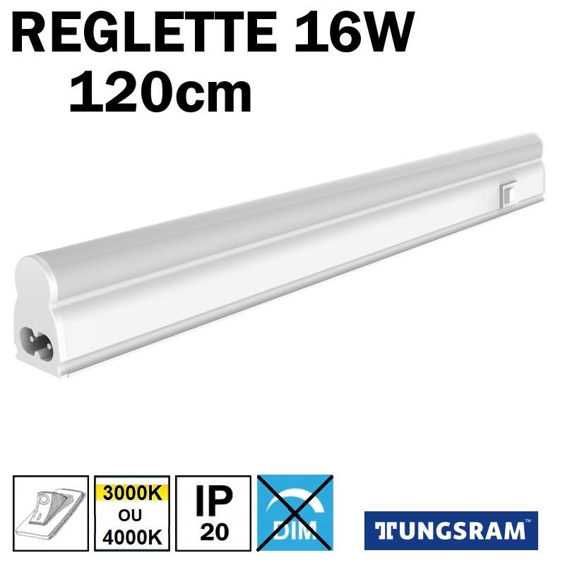 Réglette LED avec inter - TUNGSRAM16W