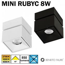 Plafonnier ou applique BENEITO MINI RUBYC 8W