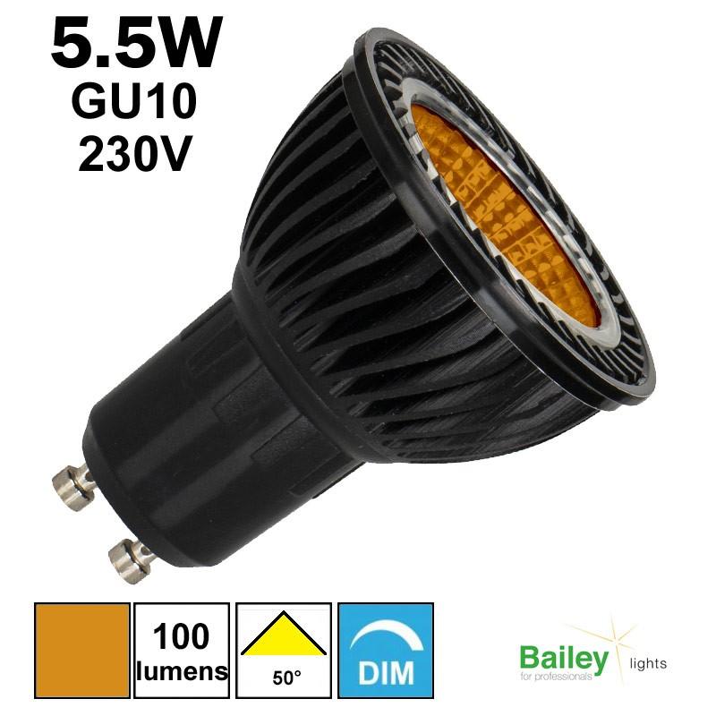 Ampoule orange GU10 - Spot de couleur LED