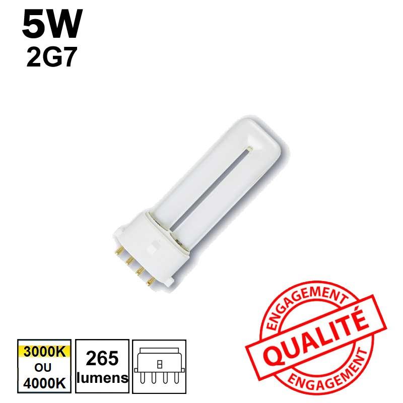 5W 2G7 - Ampoule fluo-compacte