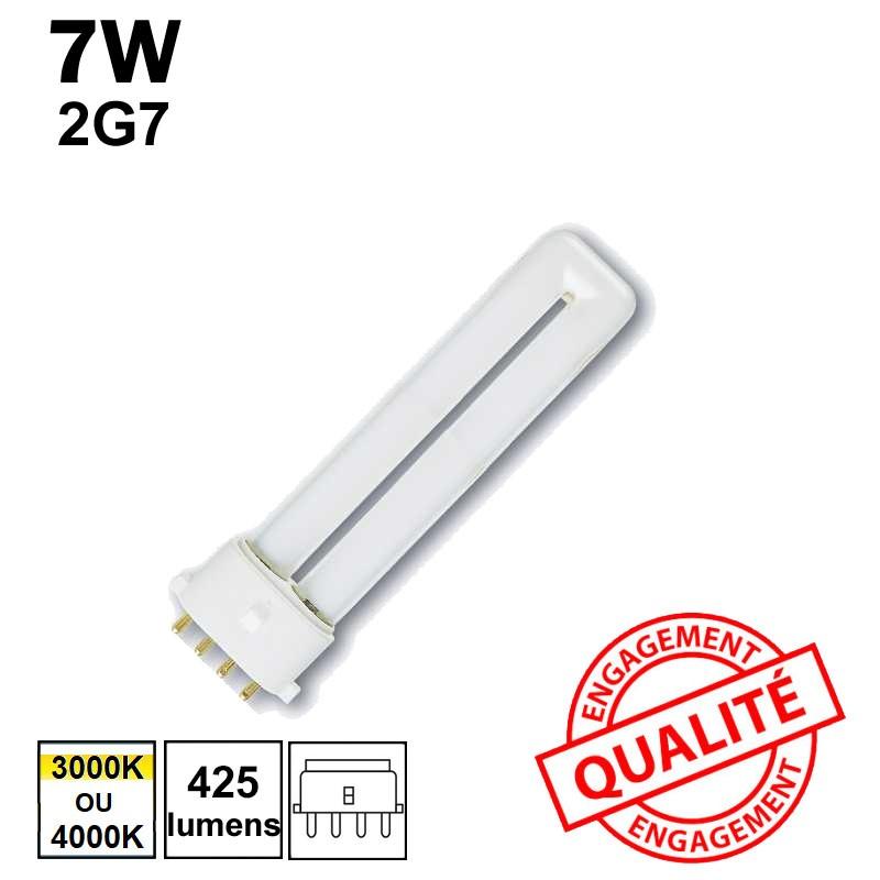 7W 2G7 - Ampoule fluo-compacte