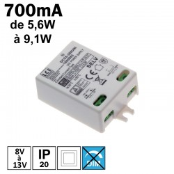 LCI 1600097 - Alimentation LED 350mA de 5,6 à 9,1W