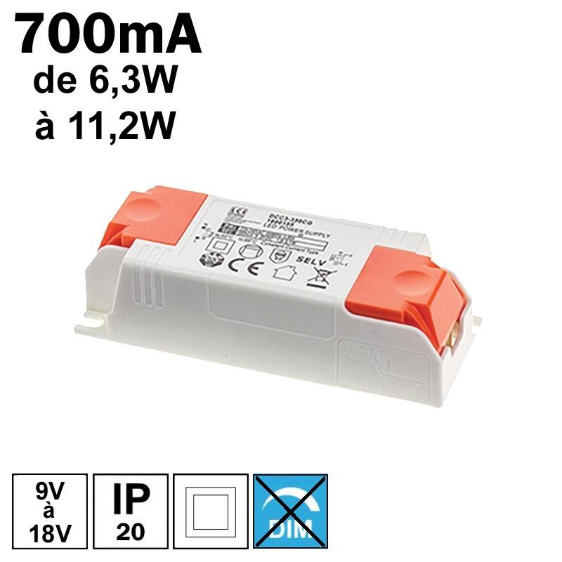 LCI 1600121 - Alimentation LED 700mA de 6,3W à 11,2W
