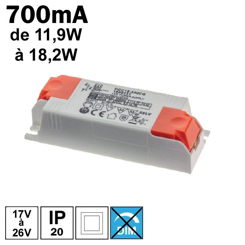 LCI 1600138 - Alimentation LED 700mA de 11,9 à 18,2W