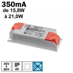 LCI 1600131 - Alimentation LED 350mA de 15,8W à 21,0W