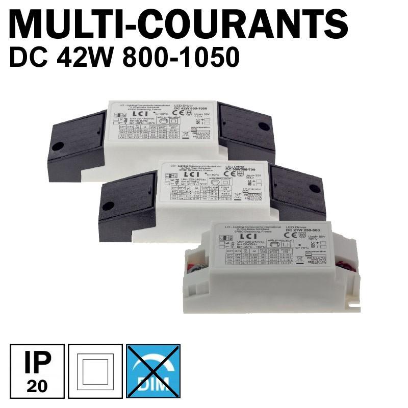 LCI 1713042 - Alimentation LED multi-courants de 800mA à 1050mA