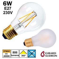 Ampoule FILAMENT LED standard 6W GIRARD SUDRON