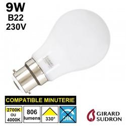 Ampoule standard LED 9W B22 GIRARD SUDRON