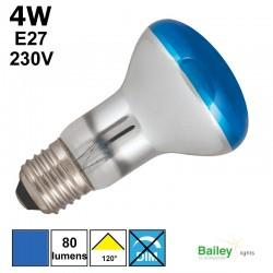 Spot LED bleu R63 4W E27 230V