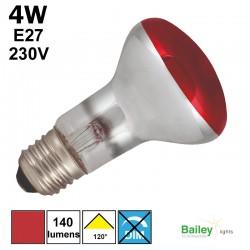 Spot LED rouge R63 4W E27 230V