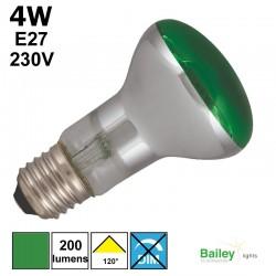 Spot LED vert R63 4W E27 230V