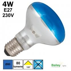Spot LED bleu R80 4W E27 230V