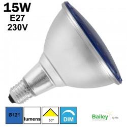 Spot LED bleu PAR38 15W E27 230V