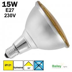 Spot LED jaune PAR38 15W E27 230V
