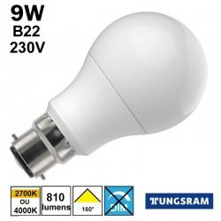 Ampoule LED économique TUNGSRAM 9W B22 230V
