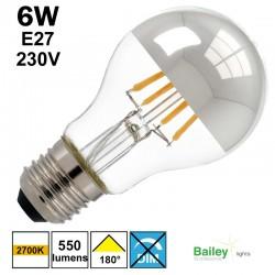 Lampe calotte argentée - BAILEY 80100035356 LFA6004CU
