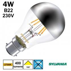 Ampoule standard calotte argentée B22