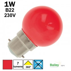 Ampoule rouge B22 - sphérique de guirlande