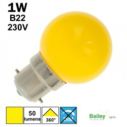 Ampoule jaune B22 - sphérique de guirlande