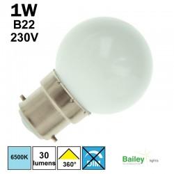 Ampoule blanche B22 - sphérique de guirlande