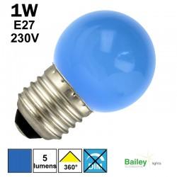 lampe bleue E27 - sphérique de guirlande