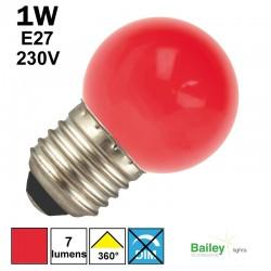 Lampe rouge E27 - sphérique de guirlande