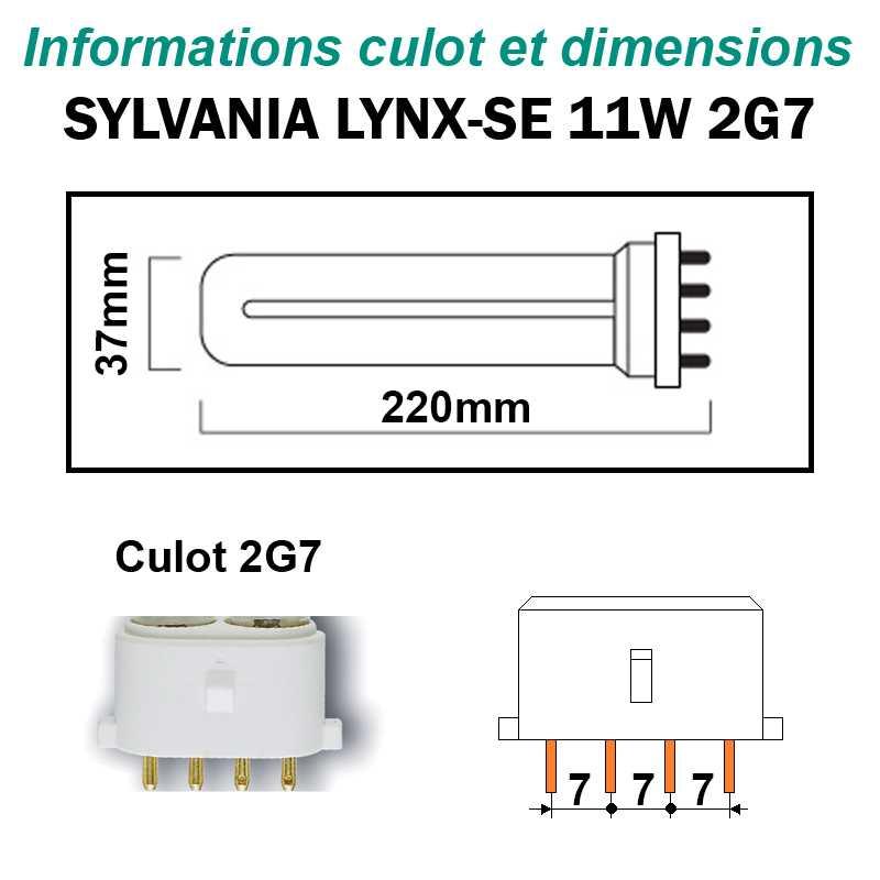 SYLVANIA 11W Lynx-SE 2G7