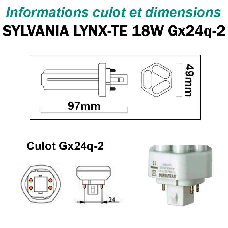 SYLVANIA 18W Lynx-TE Gx24q2