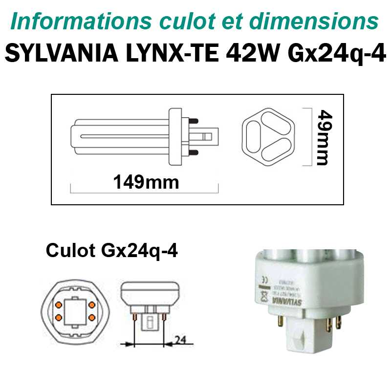 SYLVANIA 42W Lynx-TE Gx24q4
