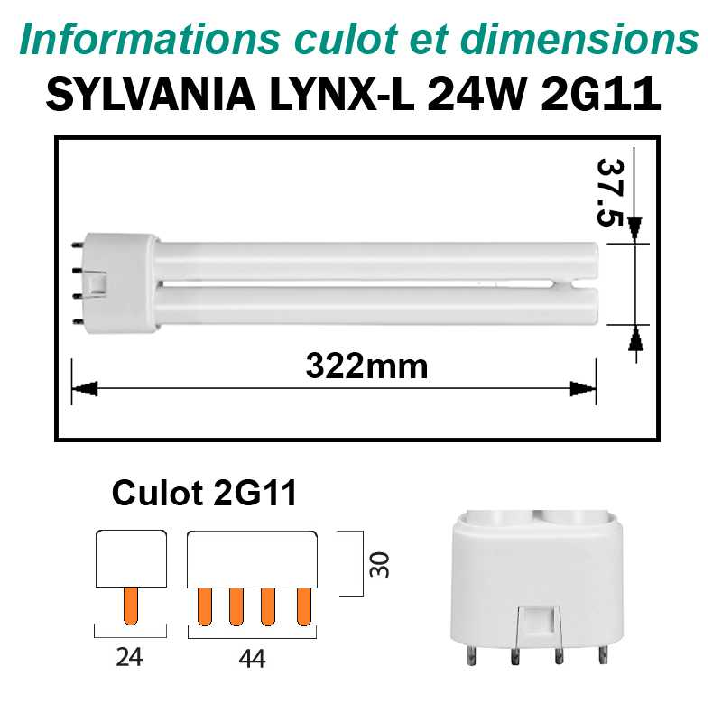 SYLVANIA 24W Lynx-L 2G11