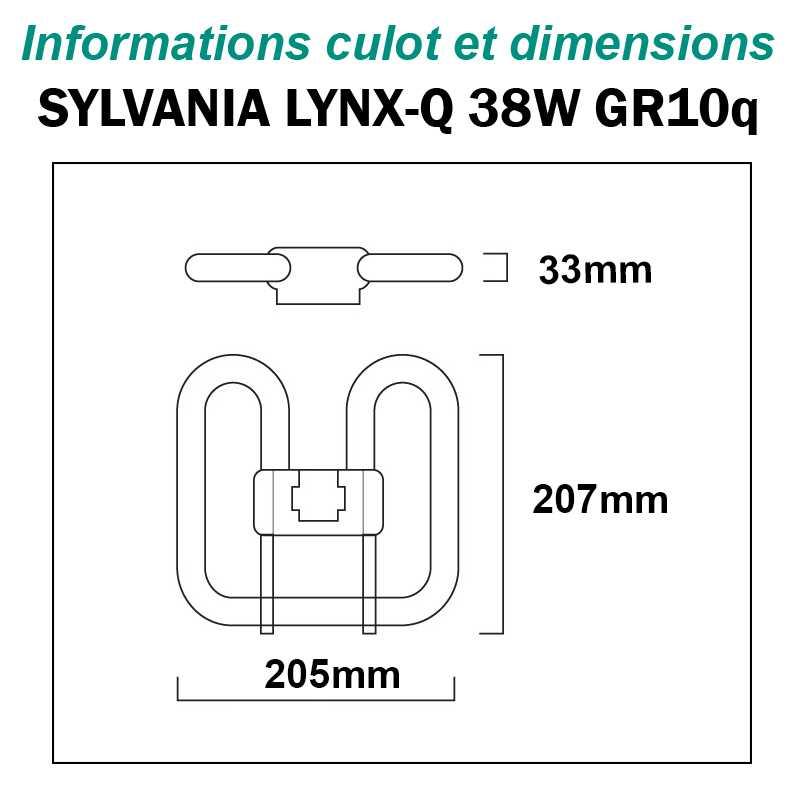 SYLVANIA 38W Lynx-QE GR10q