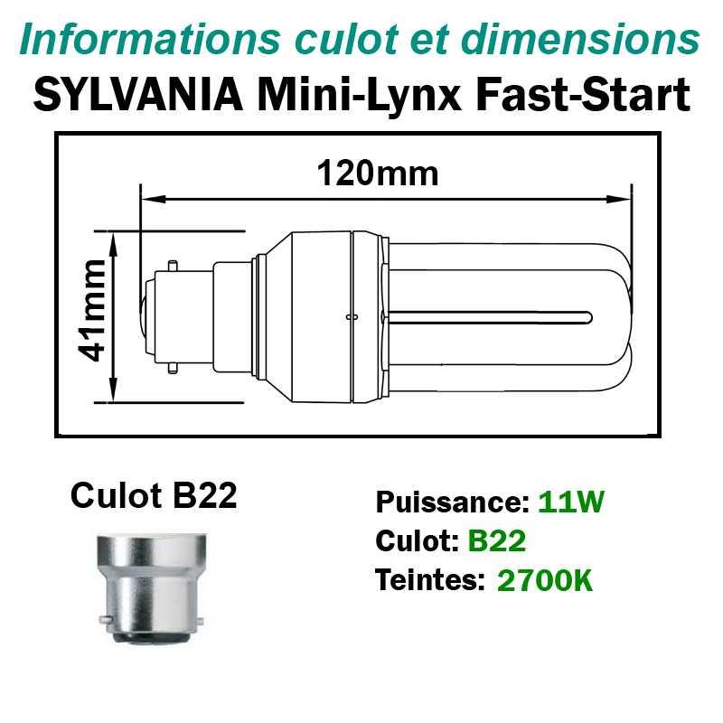SYLVANIA 11W FAST-START B22