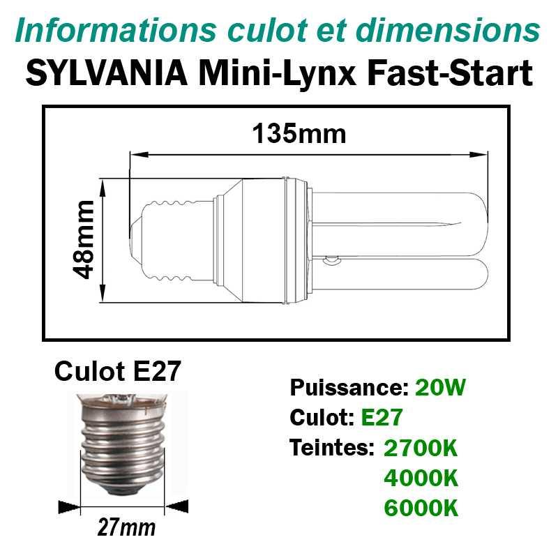 SYLVANIA 20W FAST-START E27