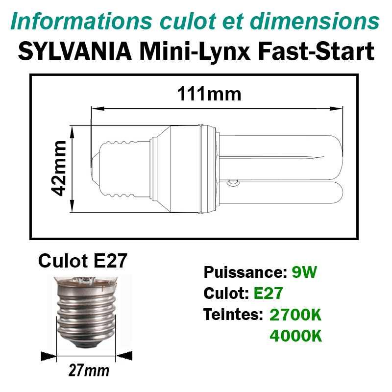 SYLVANIA 9W FAST-START E27