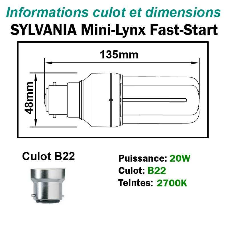 SYLVANIA 20W FAST-START B22