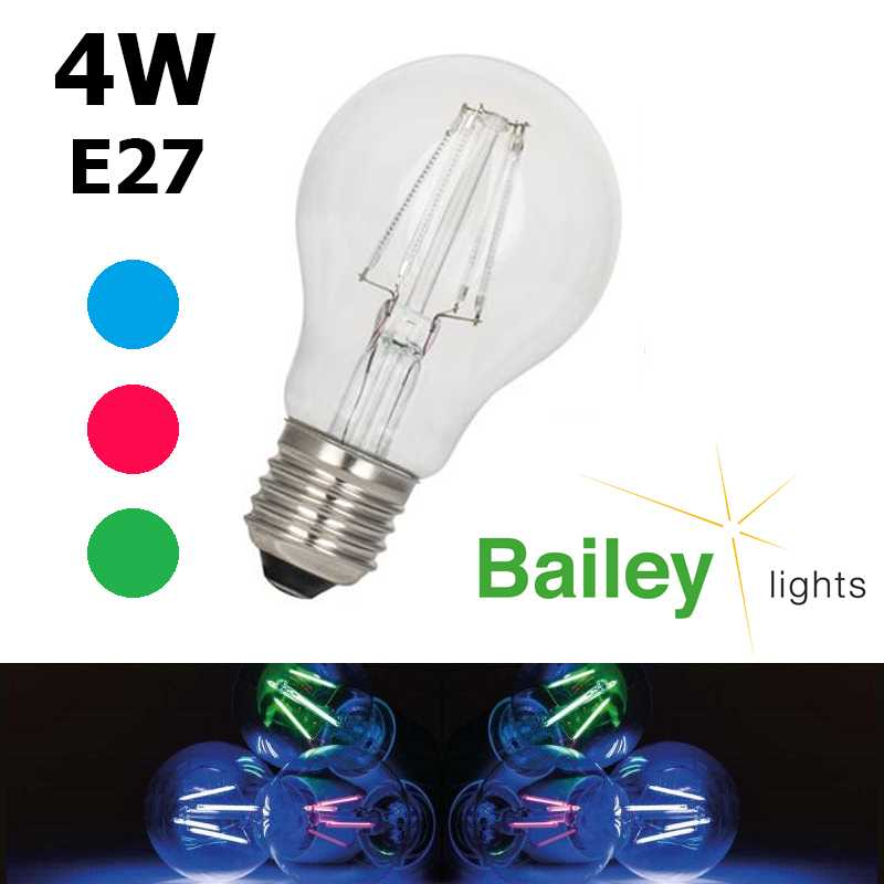 Ampoule standard LED couleur standard 4W E27 BAILEY